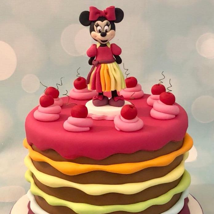 Minni Mouse Rainbow Cake Stripe Birthday