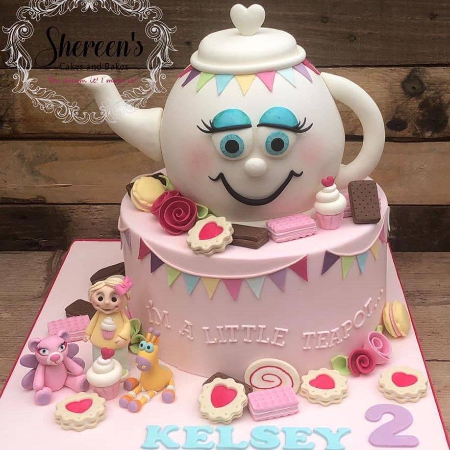 birthday cake little teapot cookies rhyme