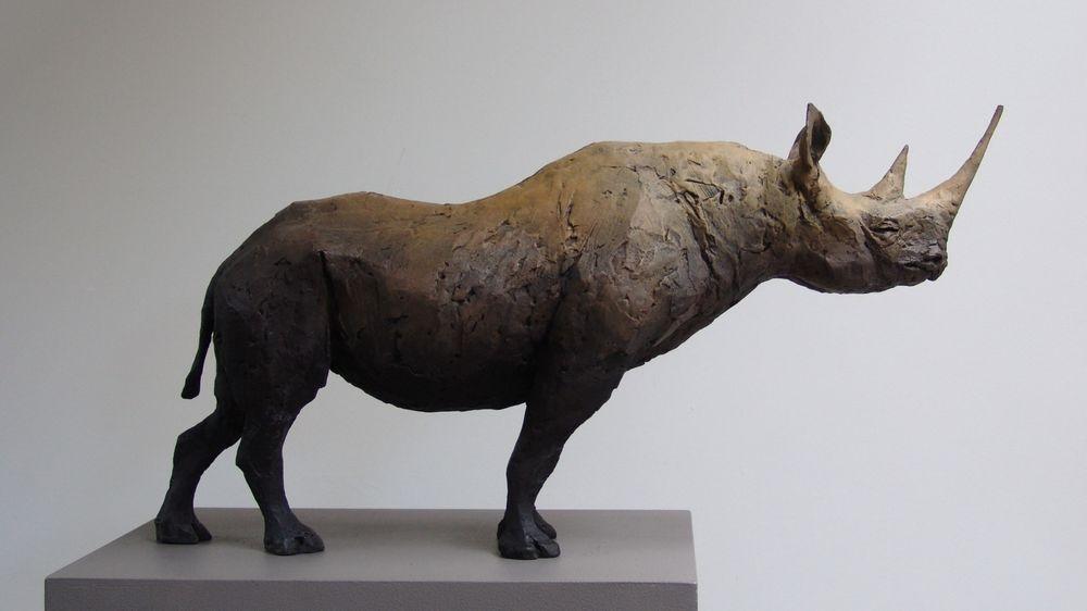 Rhinoceros. Bronze Sculpture