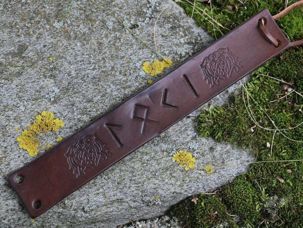 Loki Leather Bracelet, Loki, Norse Gods, Viking Age, Vikings, Shield Ravens