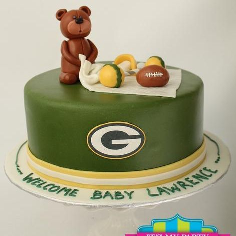 Custom Teddybear GB Packer Cake Milwaukee