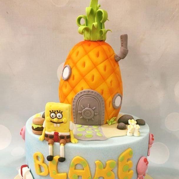 Spongebob Sponge Bob Square Pants Cake Birthday Pineapple Under Sea Patrick Star Gary