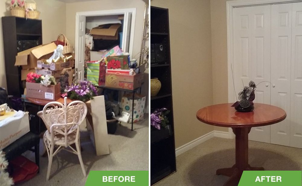 Before and After Downsizing