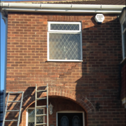 Subsidence and pointing after ready for crack repairs