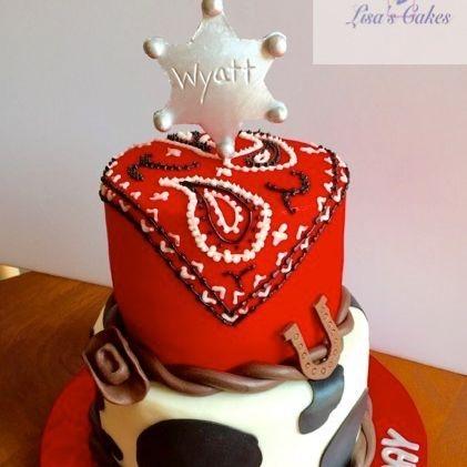 Cowboy/Cowgirl  Birthday Cake