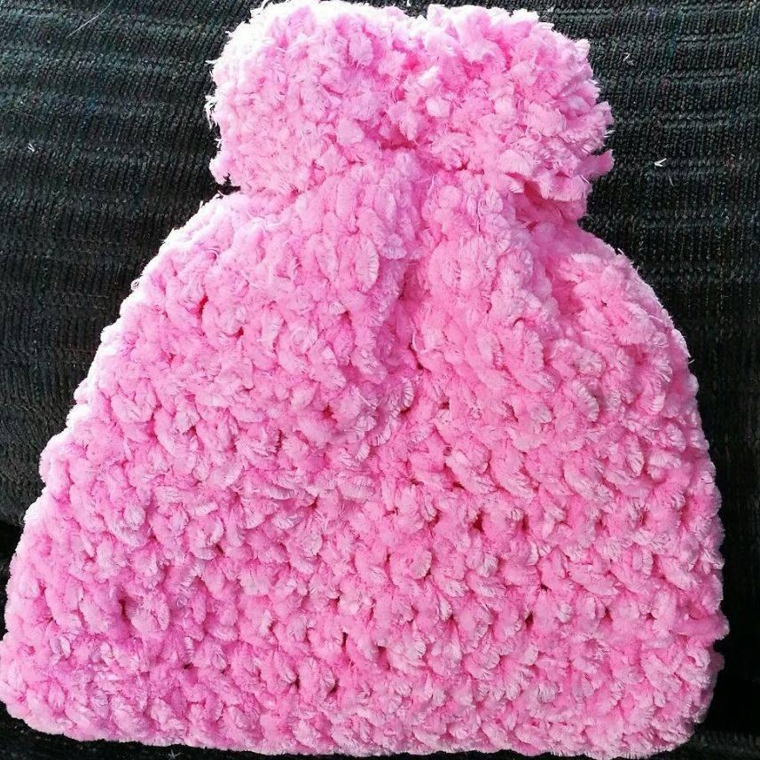 Super Soft Plush Baby Hat Handmade