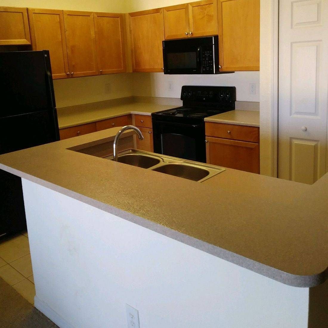 Kitchen After Refinished Countertop