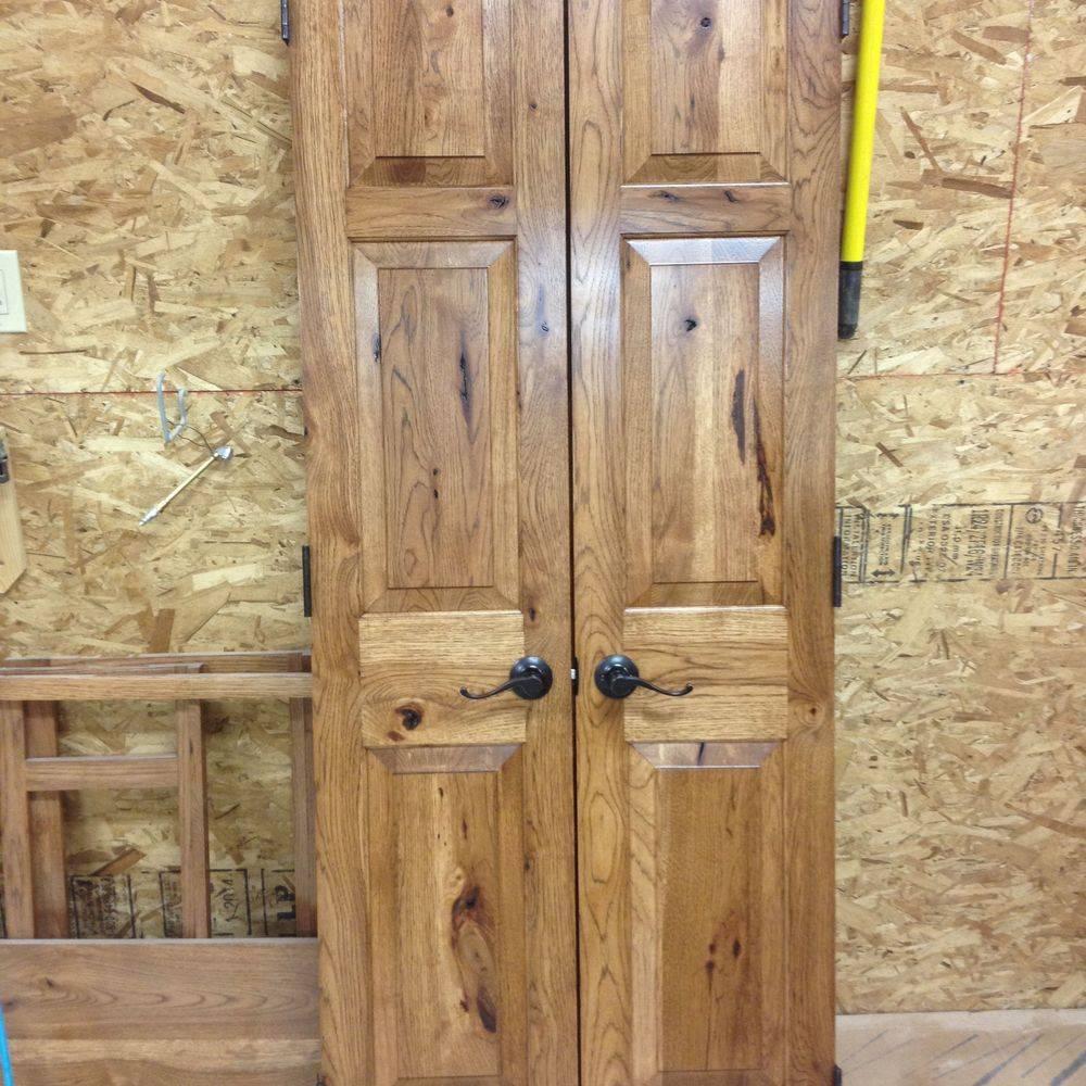 Wooden doors on the floor