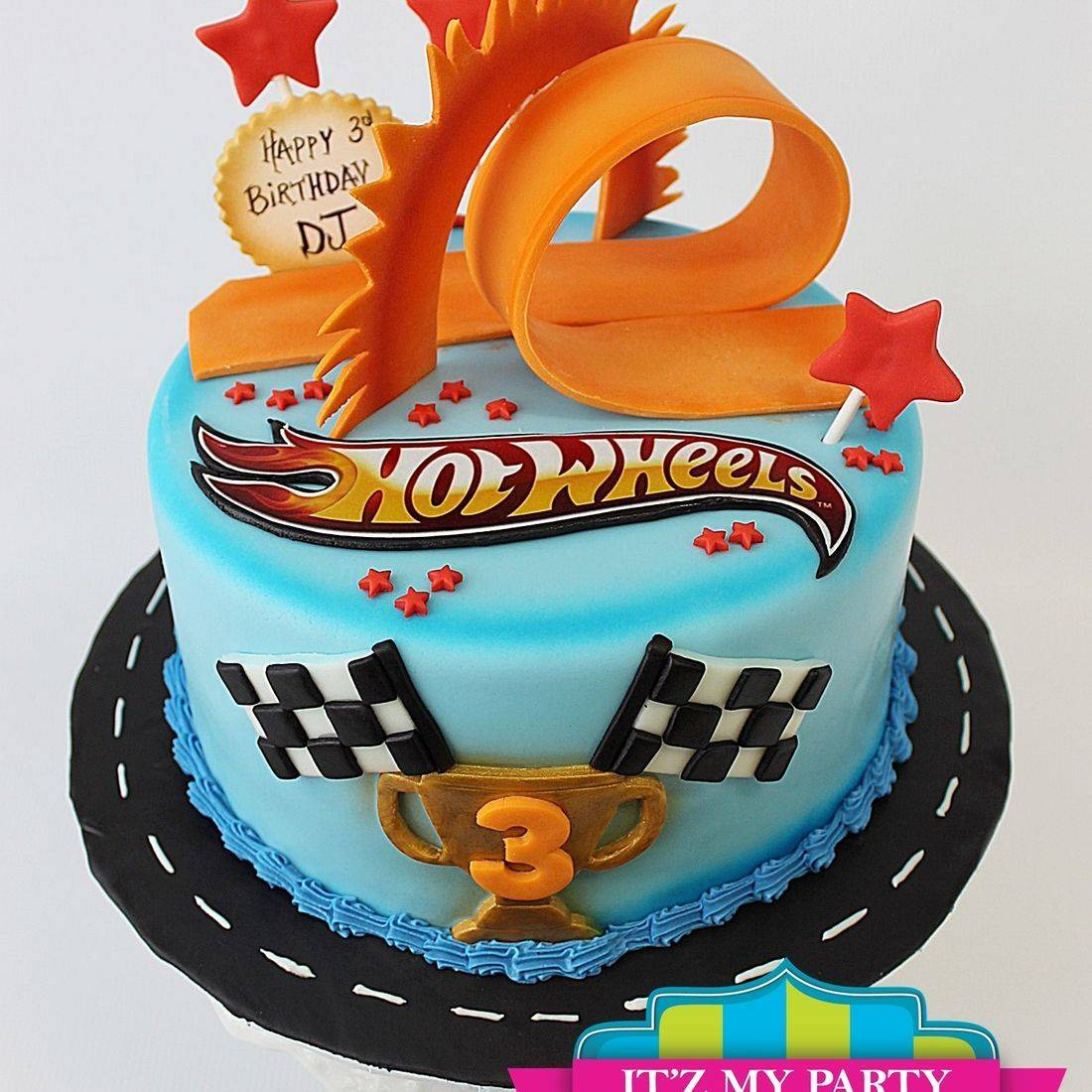 Custom  Hot Wheels finish line racing Cake Milwaukee