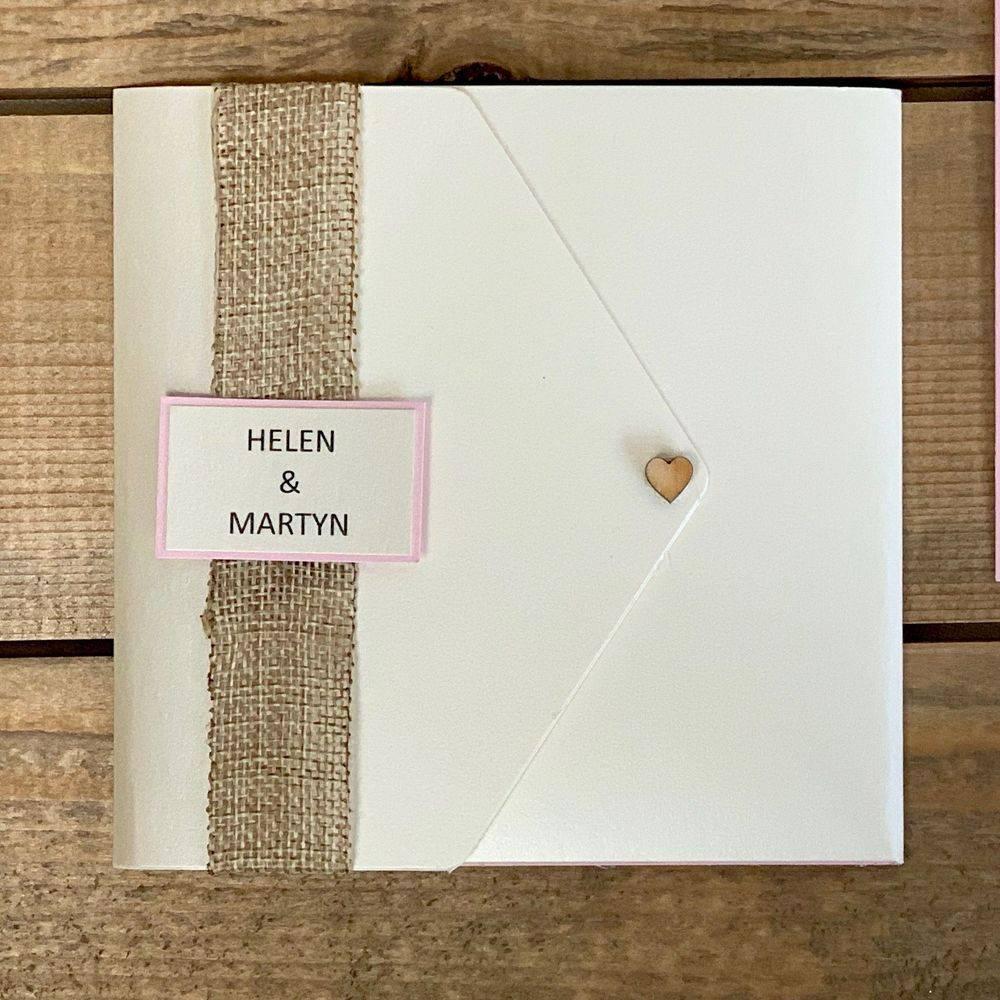 Rustic Christmas Wedding Invitation