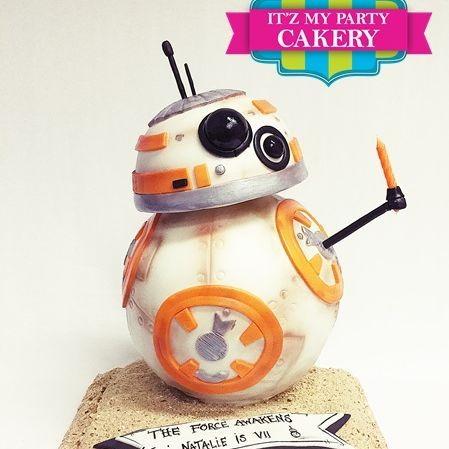 BB8 Star Wars Cake Carved Dimensional Cake Milwaukee