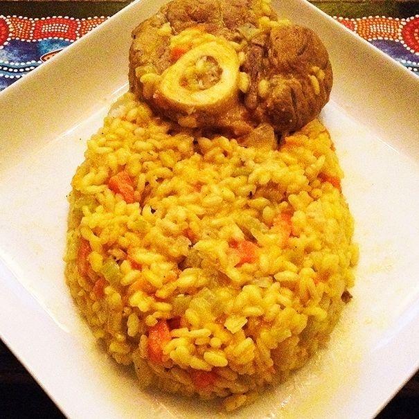 ossobuco and risotto