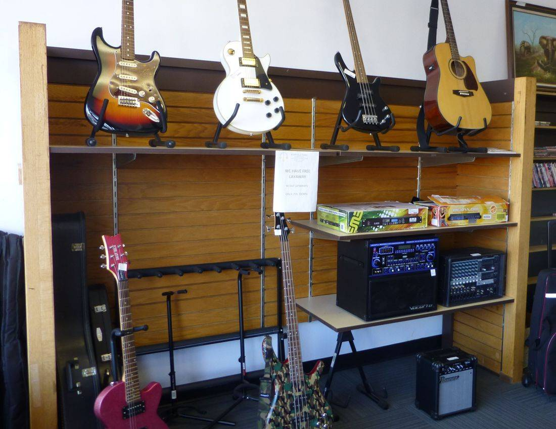 Guitars And Musical Gear On Display At Kempsville Pawn in Virginia Beach