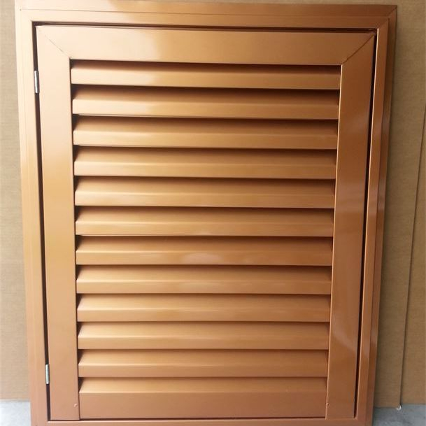 Copper penny hinged aluminum access door