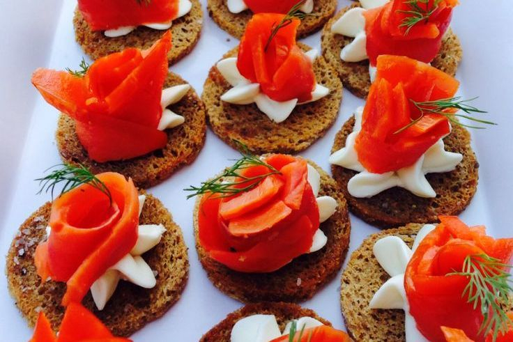 Salmon Canape Caterers Seattle
