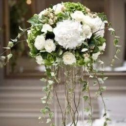 Cylinder wedding vase hire with fresh flowers edinburgh