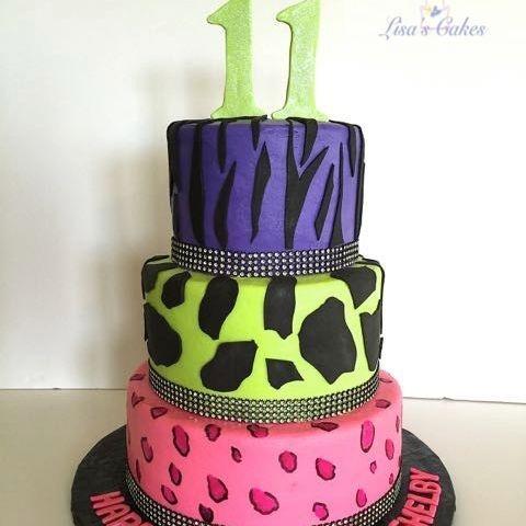 Animal Print Cake Neon
