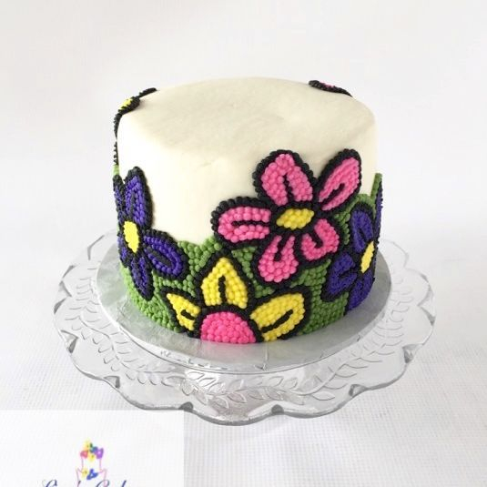 Buttercream Flower Cake, modern cake