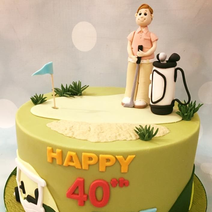 Golf Cake Birthday Novelty Celebration