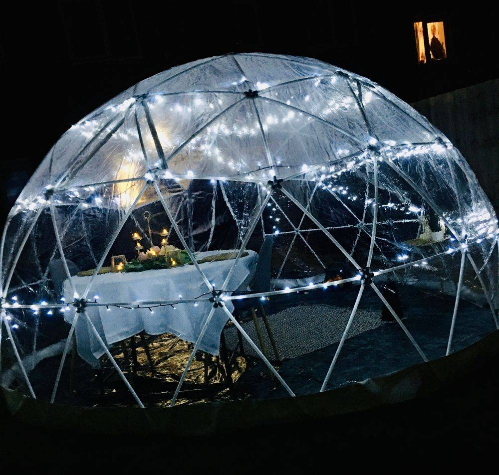 Dining Dome igloo cornwall