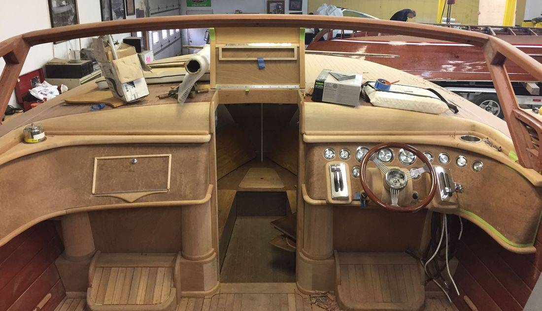30' Shepherd at Shepherd Boat Co. Lake Geneva