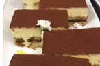 Tiramisu square cake