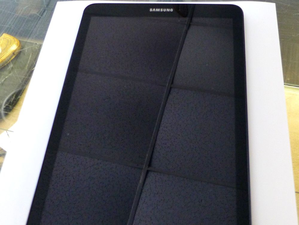 Picture of a Black Samsung Tablet on a White Background