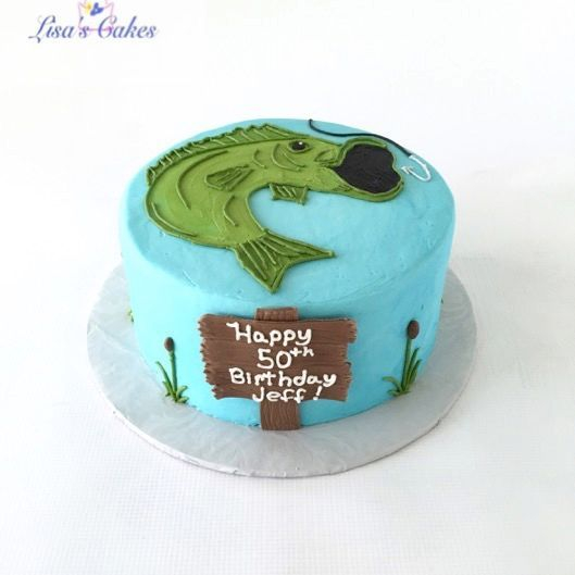 Fishing Cake - buttercream fishing cake