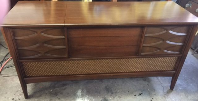 Vintage Admiral Stereo Console, with fashionable Atomic stars