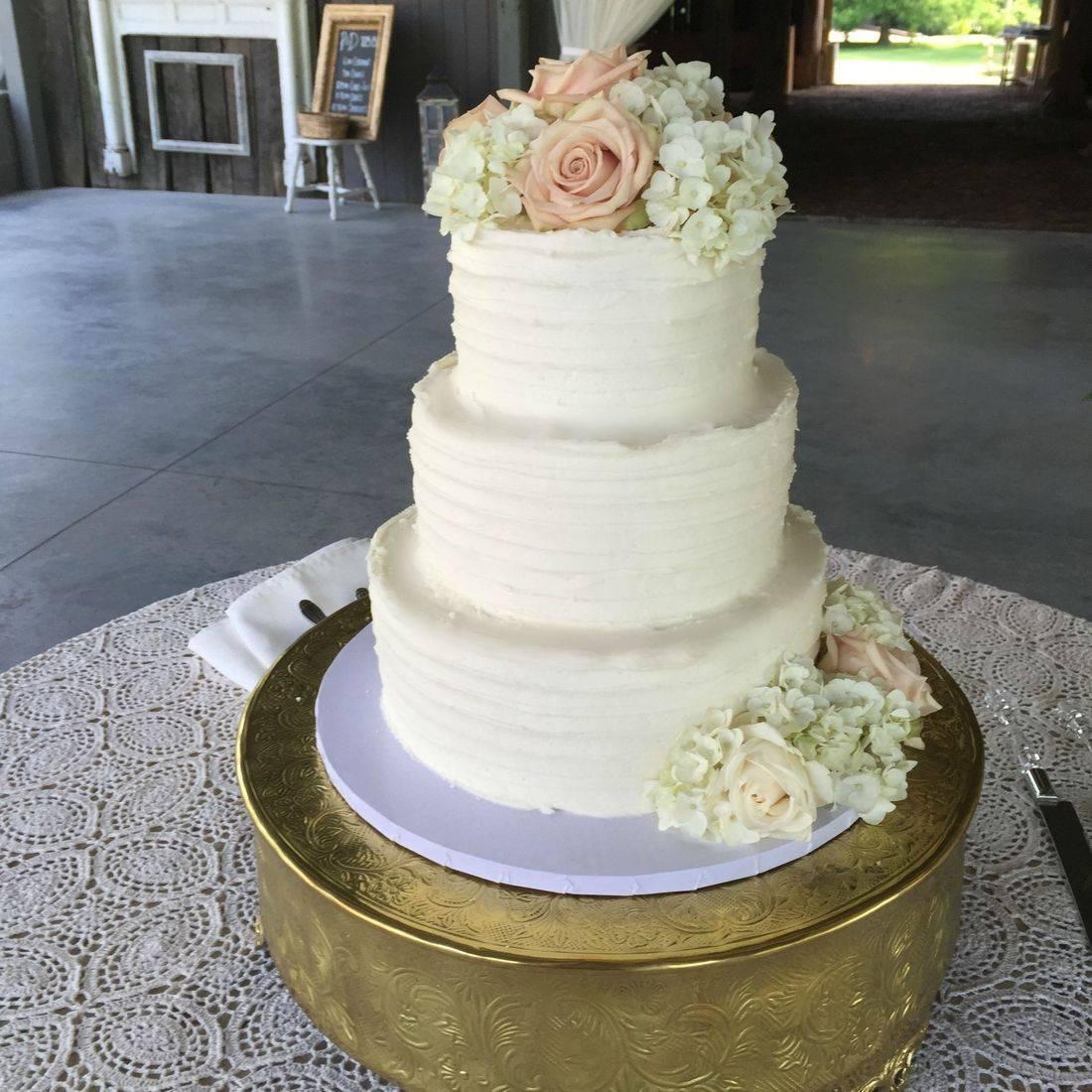 Buttercream Wedding Cake Tiffany Blue Lace southern Chic