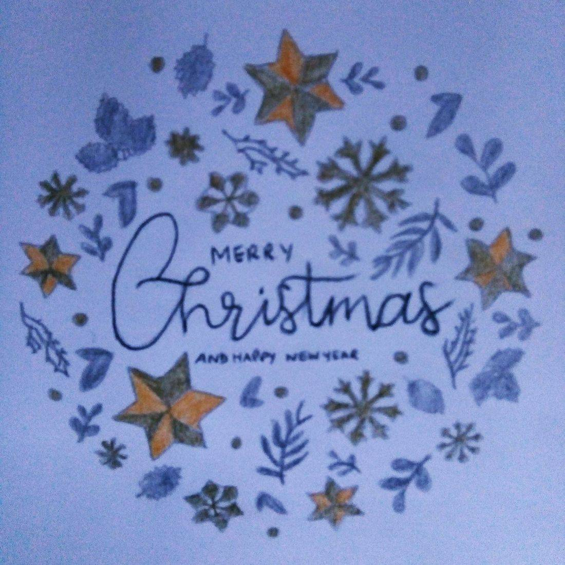 Blue Christmas Print ready to frame