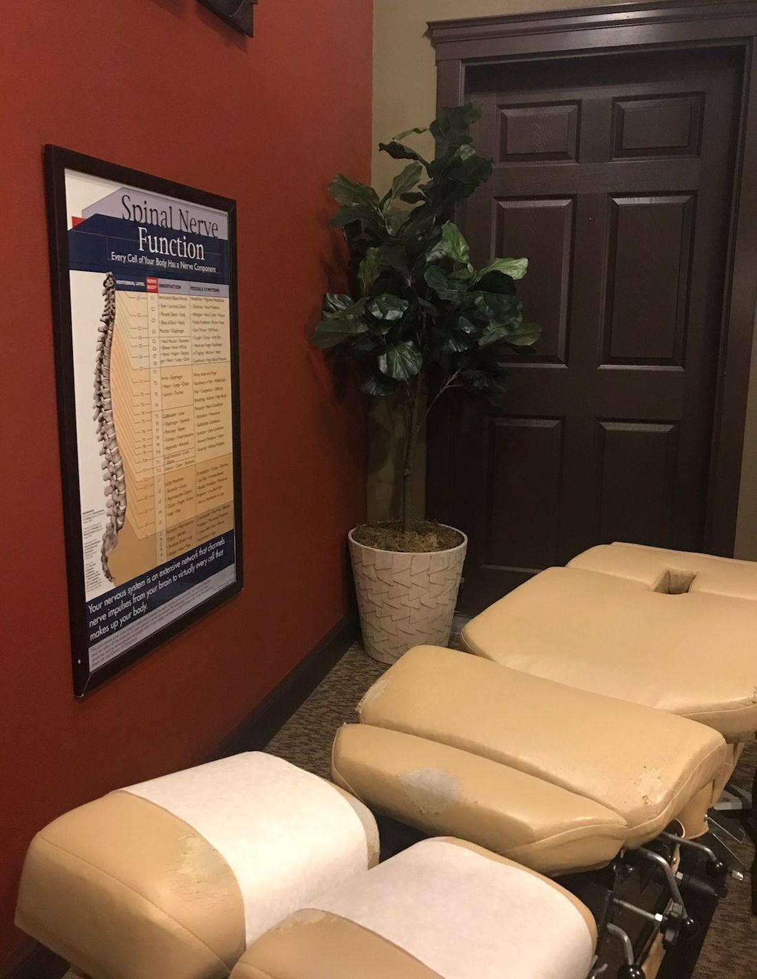 Chiropractic adjustment table at Lakeland Family Chiropractic in Auburn, WA