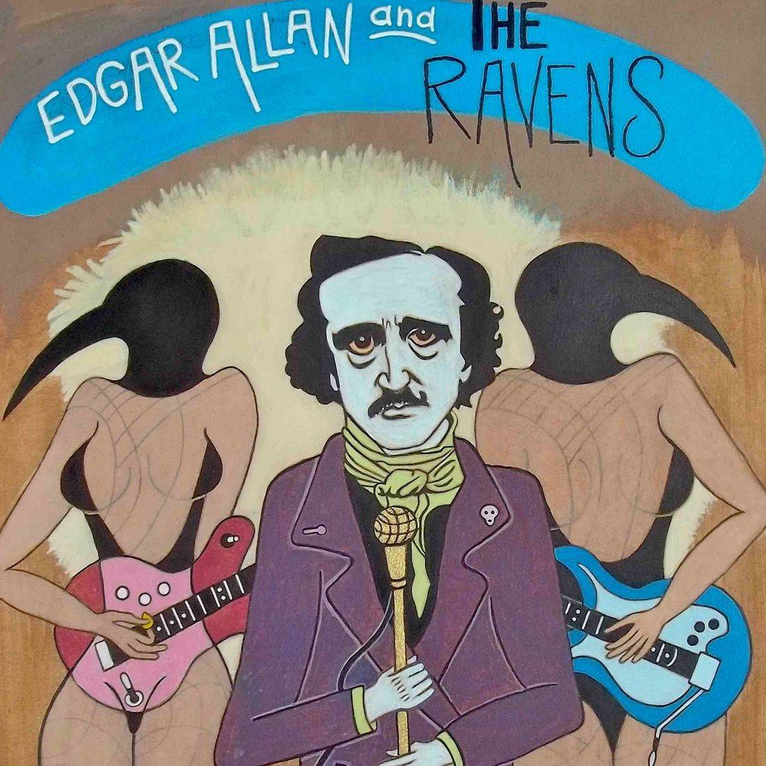Edgar Allan Poe, Ravens, Musical Groups, Contemporary Art, Lizard Lounge, Electric Guitar, Pop Art
