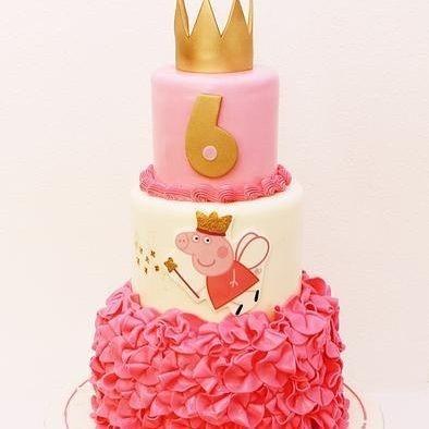 Custom Peppa Pig Ruffles Princess Cake Milwaukee