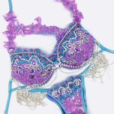 lavender wbff bikini