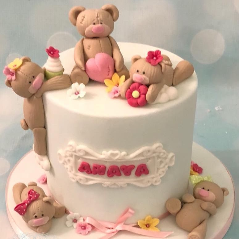 1:1 1 to 1 Group Class Cake Decorating Teaching Roses Pretty Cake Tutorial Teddy Bear