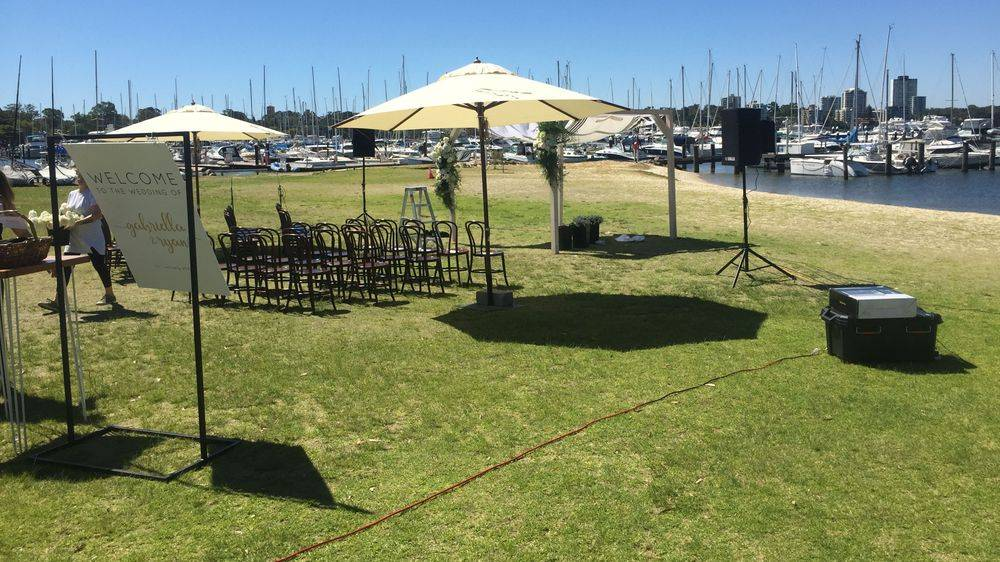 festoon light hire wedding rotto freohire freo hire bamboo pole