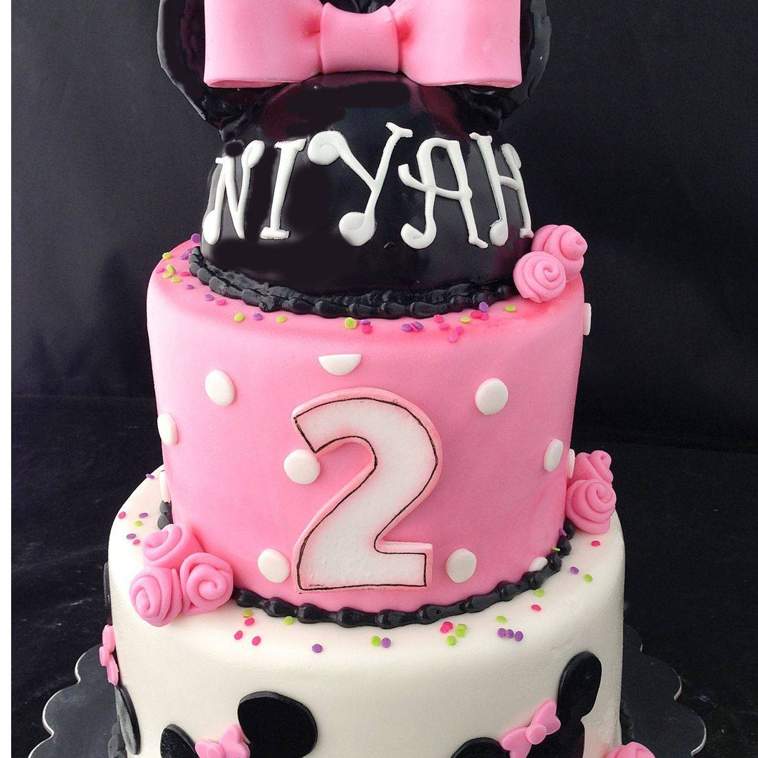 Custom  Minnie Mouse Polk Dots Cake  Milwaukee