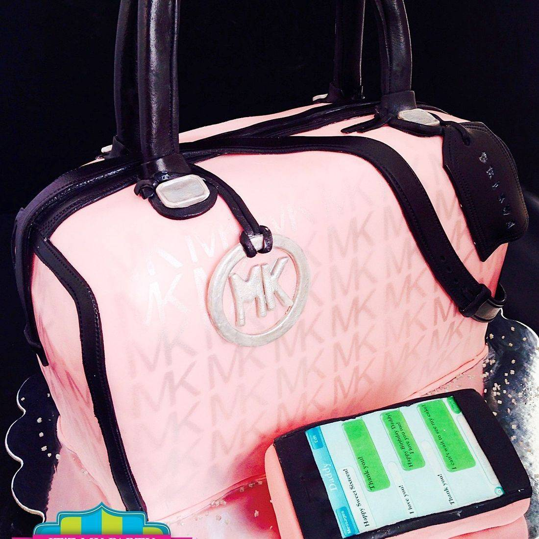 Pink MK Purse  Cake Dimensional Cake Milwaukee