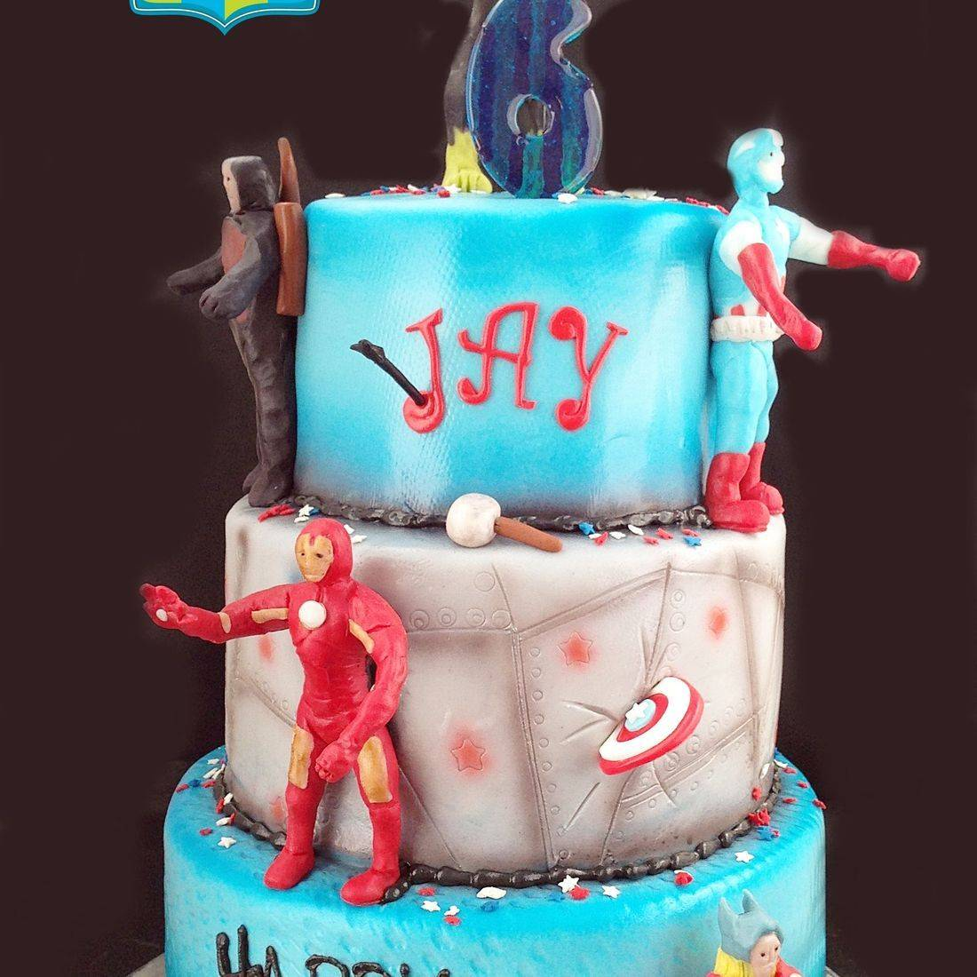 Custom  Avengers Group Cake  Milwaukee