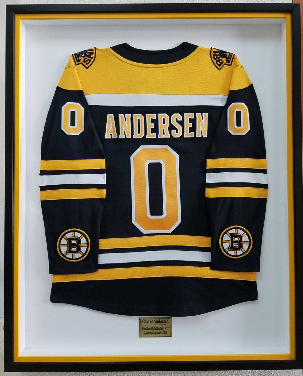 Custom framed sports jersey