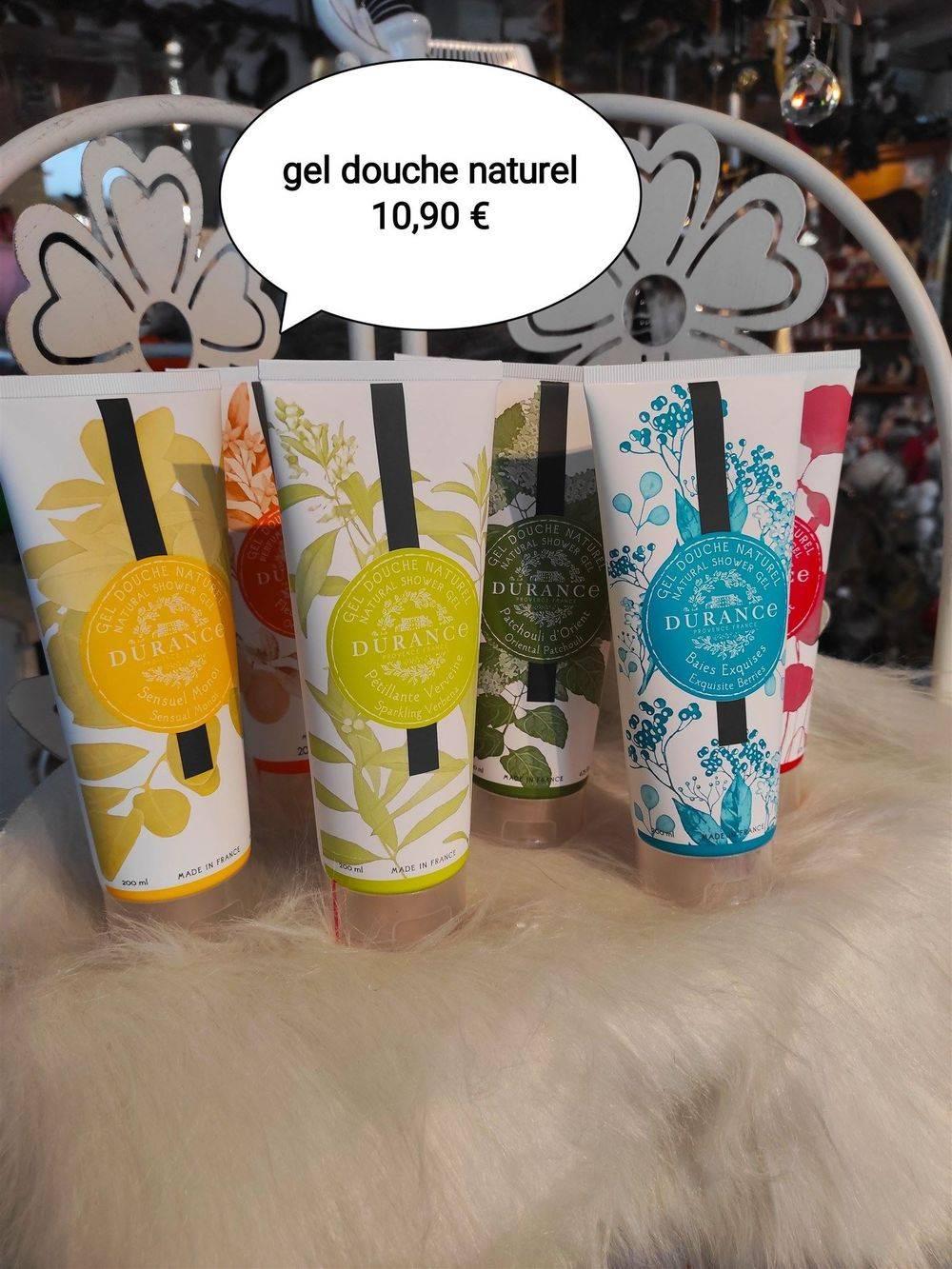 GEL DOUCHE NATUREL 100 ML Parfums : Sensuel Monoï Pétillante Verveine Baies Exquises Patchouli d'Orient Fleur d'oranger Joli Coquelicot