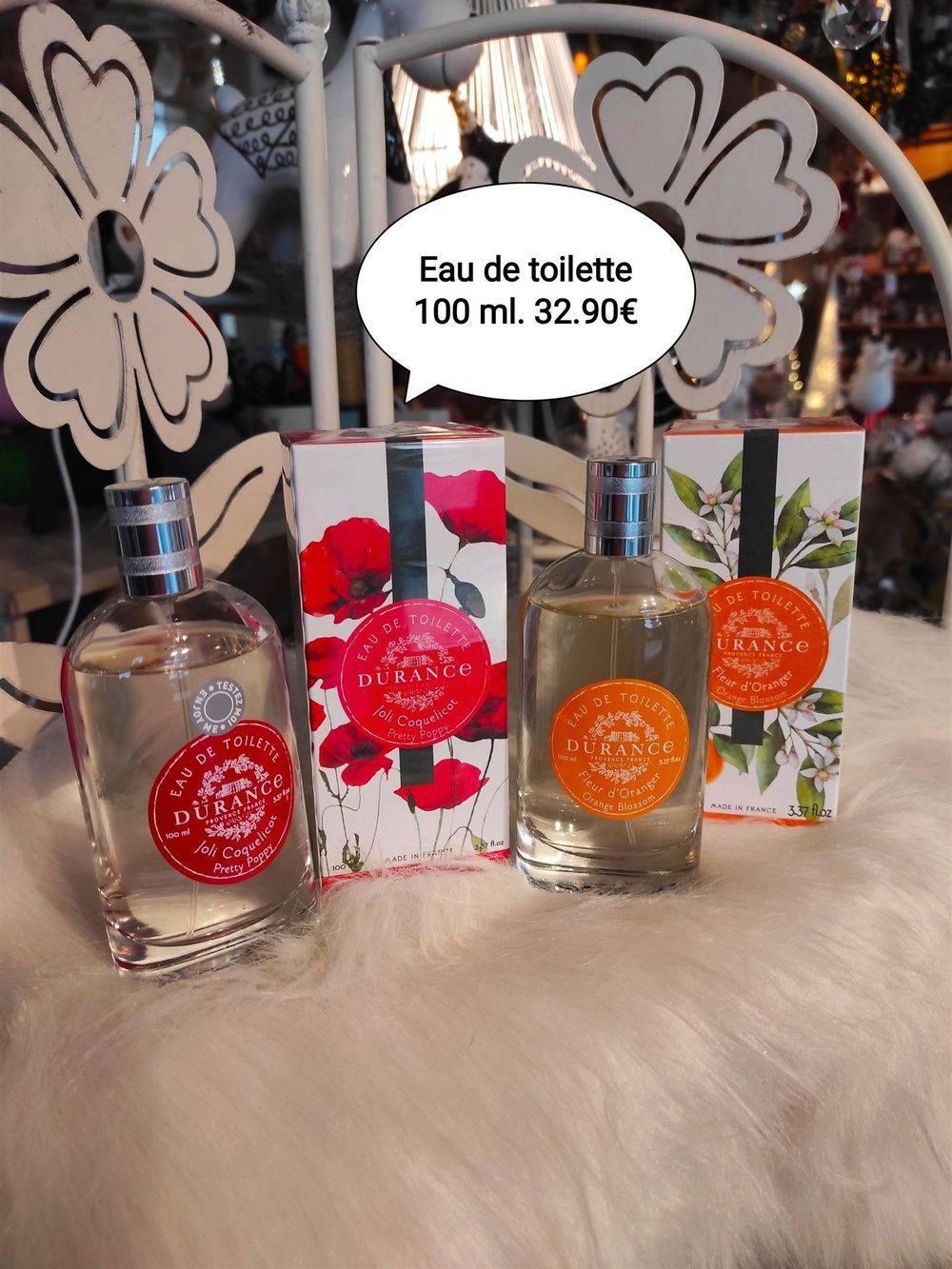 EAU DE TOILETTE naturelle 100 ML Parfums :  Fleur d'oranger Joli Coquelicot