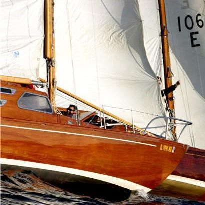 Kings Cruiser wood sailboat for sale