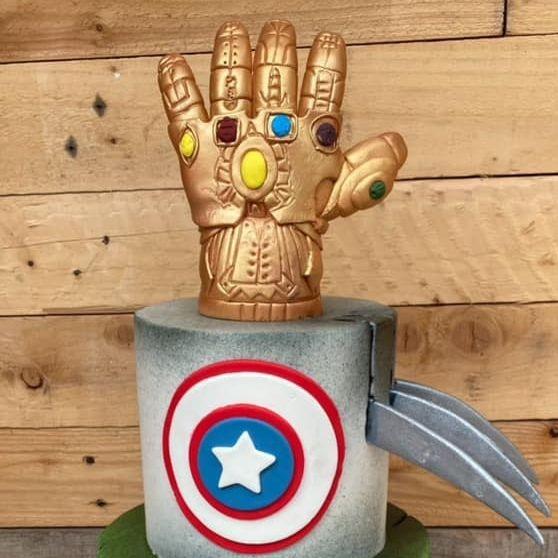 Avengers Birthday Cake Gauntlet Captain America Wolverine Hulk