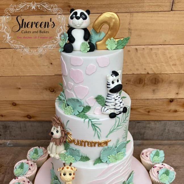 Girl Jungle Cake
