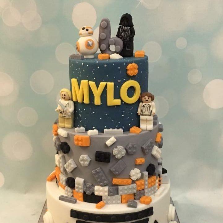 Star Wars Lego Cake Storm Trooper Blocks Darth Vader