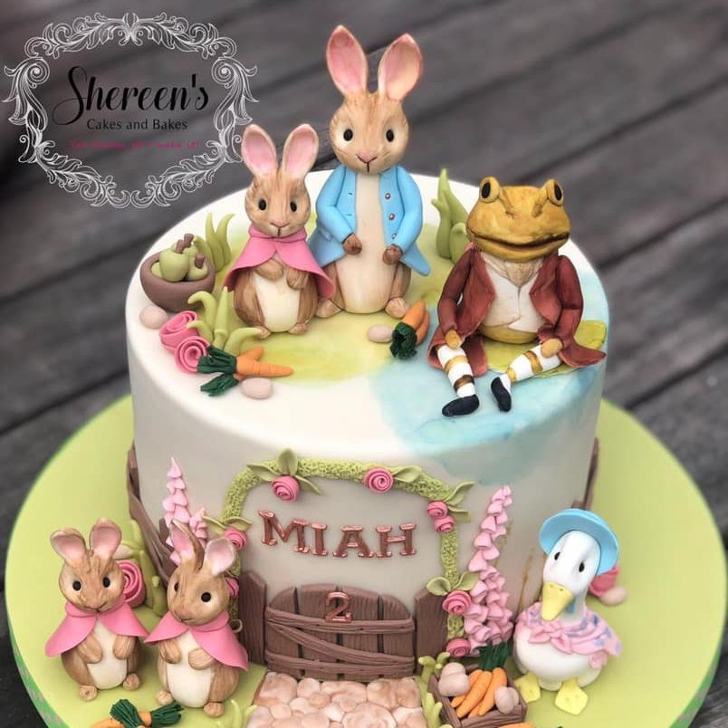 peter rabbit birthday cake toad bunny flopsy mopsy jemima puddleduck