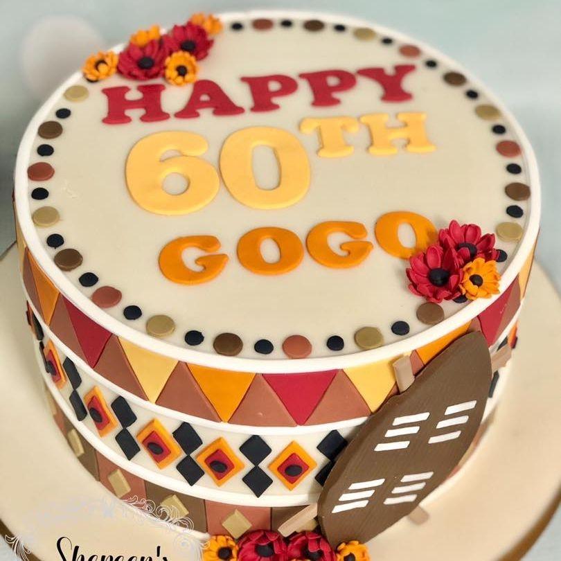 Birthday Cake 60th africa african tribal sheild sheild