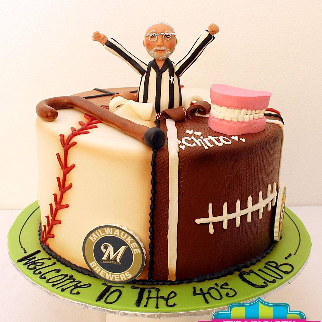 Custom  Sports Referee Baseball Football Basketball Badger Cakes Milwaukee